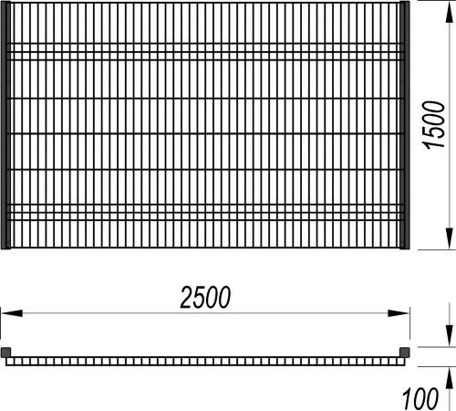 5100 Ограждение (2 500 х 1 500), фото №2