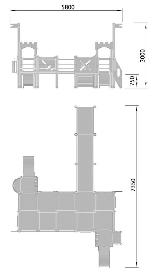 2210-1 Детский игровой комплекс для детей с ограниченными возможностями Крепость, фото №2