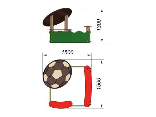 1516 Песочница Мяч, фото №2