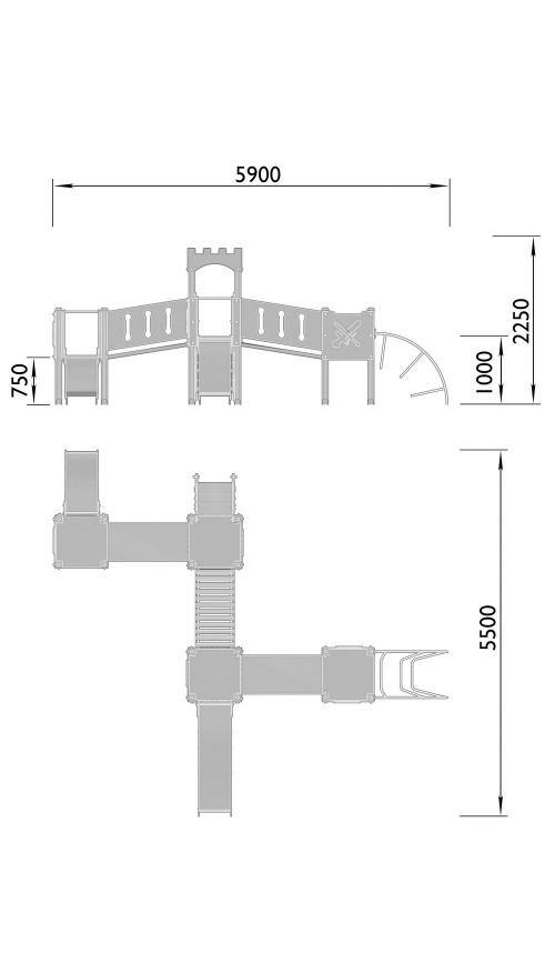 2110-2 Комплекс детский Крепость, фото №2
