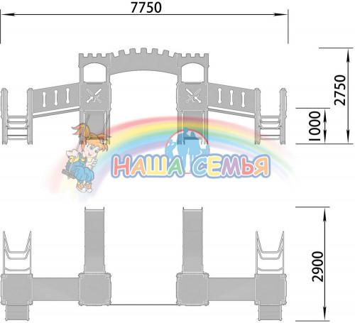 2100-1 Комплекс детский Крепость, фото №2