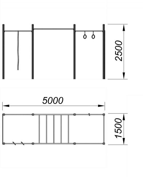 3726 Спортивный комплекс для воркаут Тип 11, фото №2