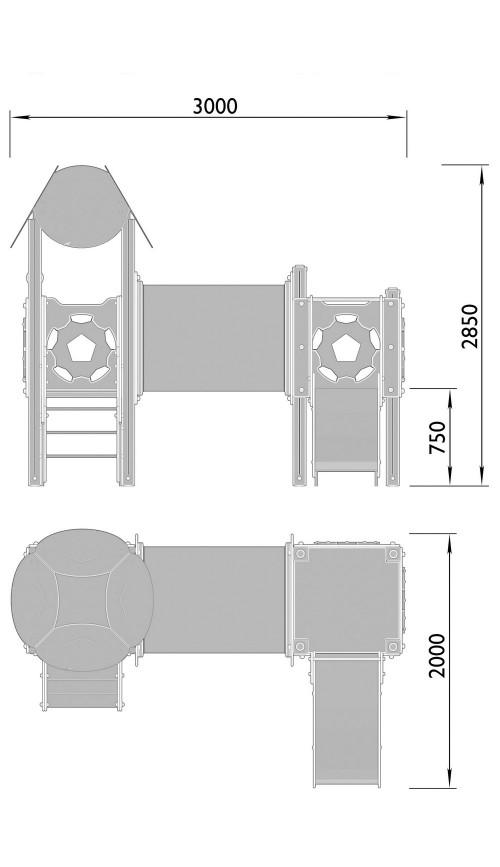 2030-9 Комплекс детский Мяч, фото №2