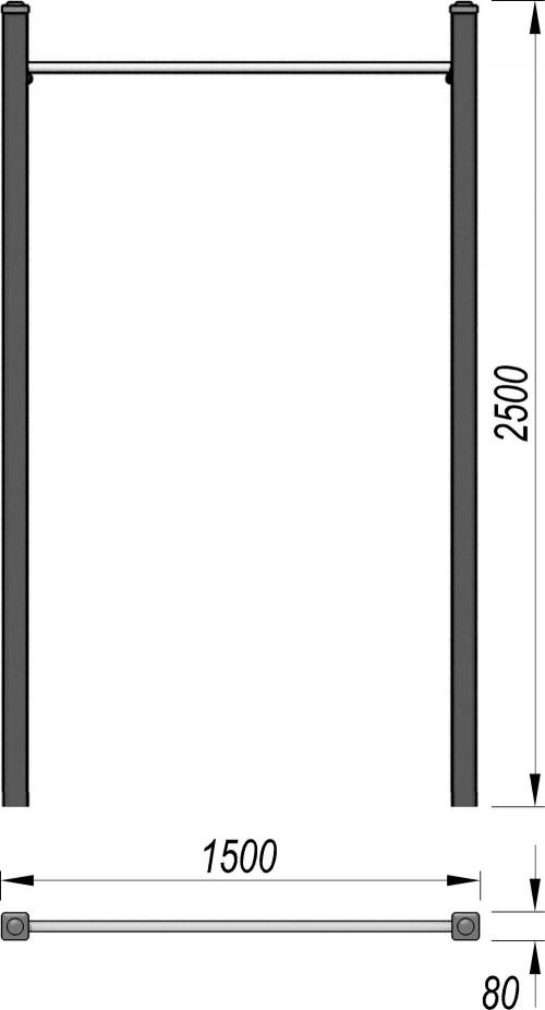 3701 Турник Тип 1, фото №2