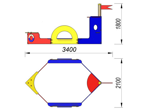 1509 Песочница Пароход, фото №2