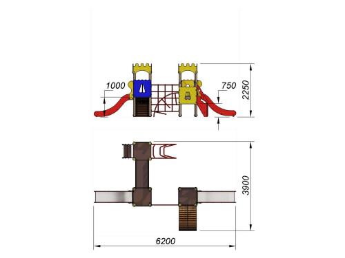 2086 Комплекс детский Крепость, фото №2