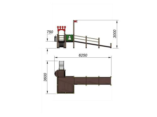 2200 Детский игровой комплекс для детей с ограниченными возможностями Корона, фото №2