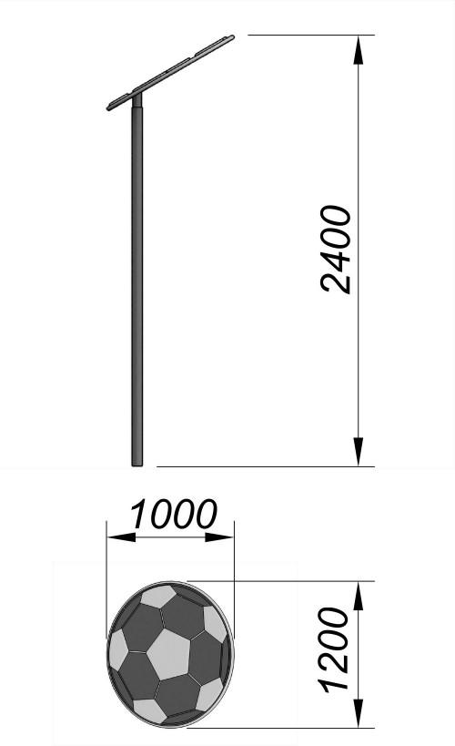 1551 Зонтик Мяч, фото №2