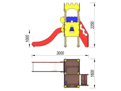 2061 Комплекс детский Крепость, фото №2