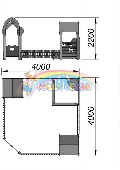 1521-1 Песочный дворик Тип 2, фото №2