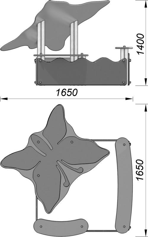 1503-2 Песочница с навесом Бабочка, фото №2