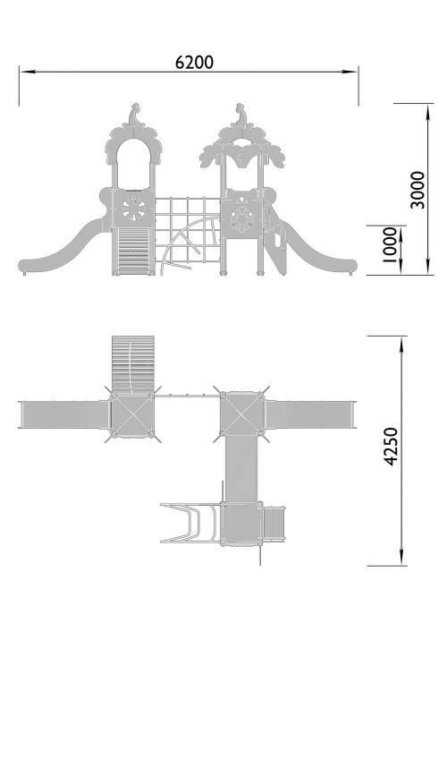 2070-5 Комплекс детский Джунгли, фото №2