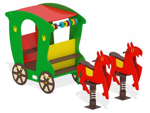4600 Карета с лошадками, фото №1