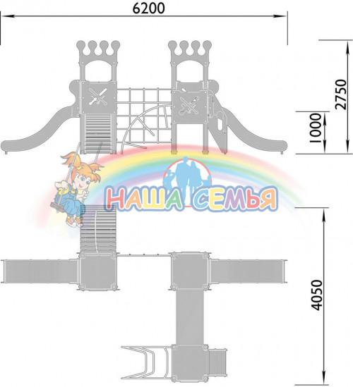 2070-3 Комплекс детский Корона, фото №2