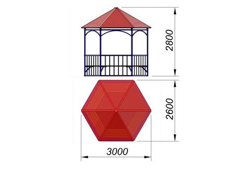 4120 Беседка шестигранная, фото №2