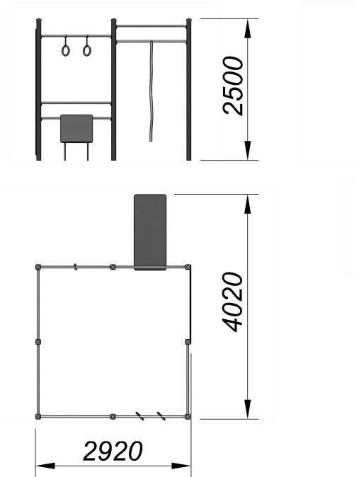 3727 Спортивный комплекс для воркаут Тип 12, фото №2