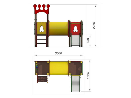 2037 Комплекс детский Корона, фото №2