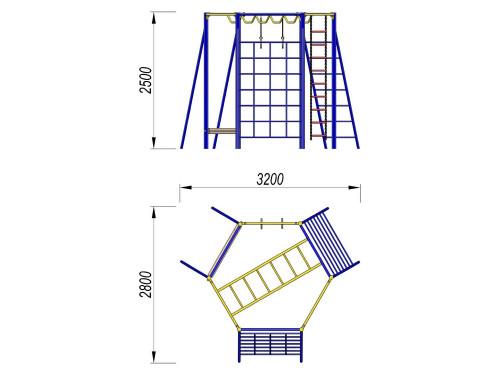 3006 Гимнастический комплекс 6-гр, фото №2