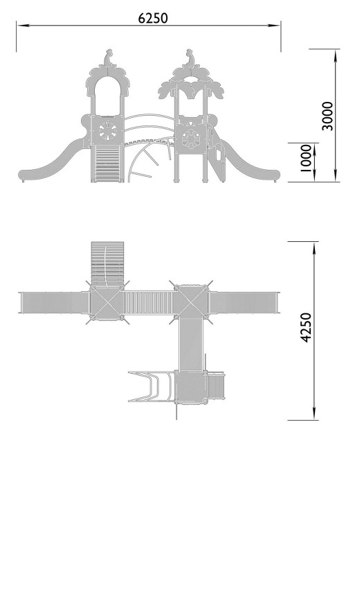 2060-5 Комплекс детский Джунгли, фото №2