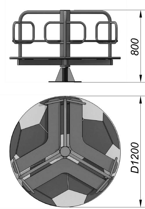 1300 Карусель Мяч, фото №2