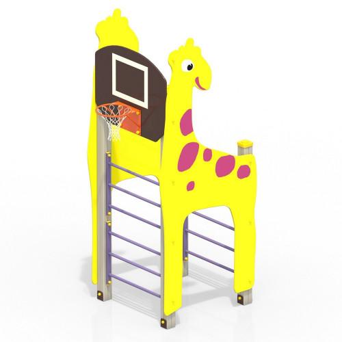 Жираф с баскетбольным щитом