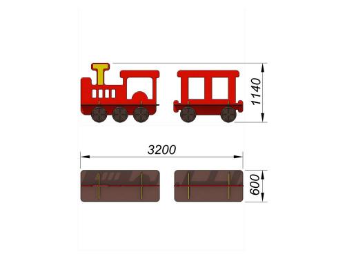 1624 Лавочки Поезд, фото №2