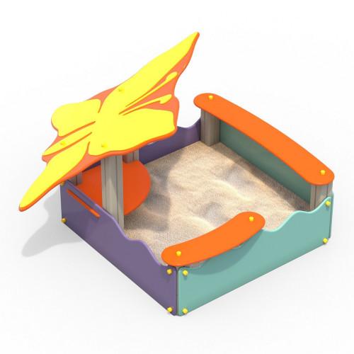 1503-2 Песочница с навесом Бабочка, фото №1