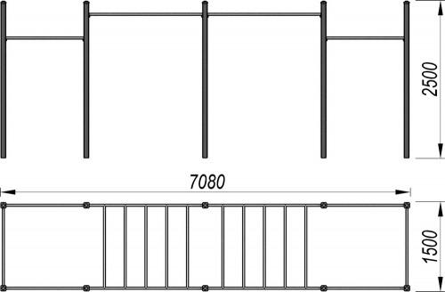 3715 Рукоход для воркаут Тип 2, фото №2