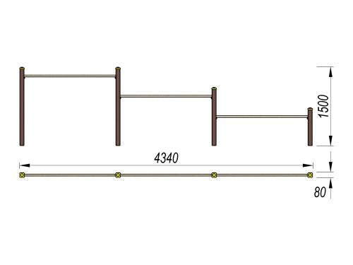 3709 Каскад турников Тип 2, фото №2