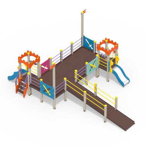 2210-1 Детский игровой комплекс для детей с ограниченными возможностями Крепость, фото №1