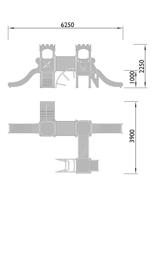 2060-7 Комплекс детский Крепость, фото №2