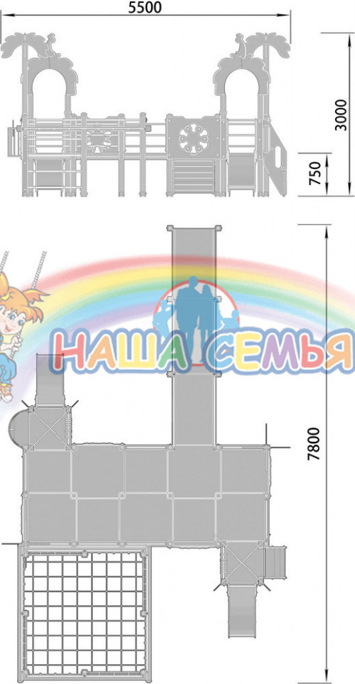 2210-2 Детский игровой комплекс для детей с ограниченными возможностями Джунгли, фото №2