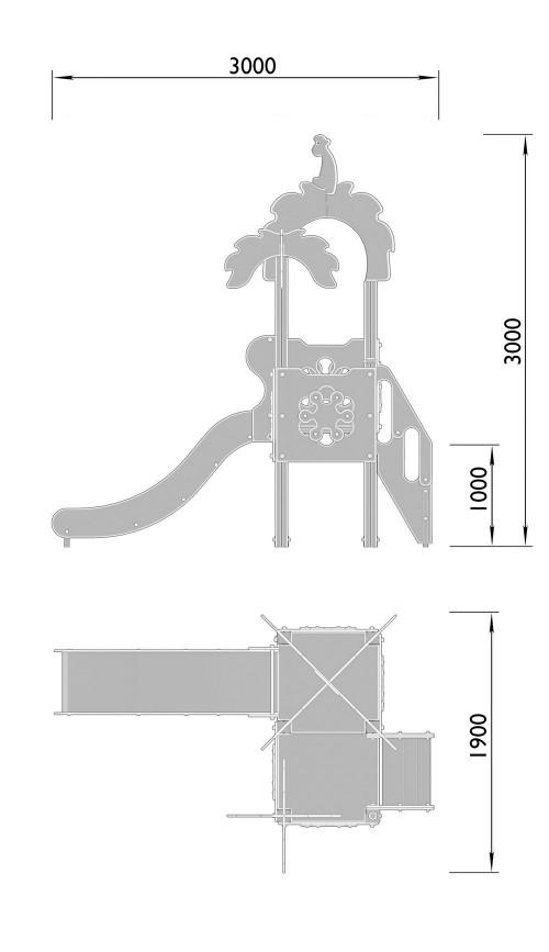2050-5 Комплекс детский Джунгли, фото №2