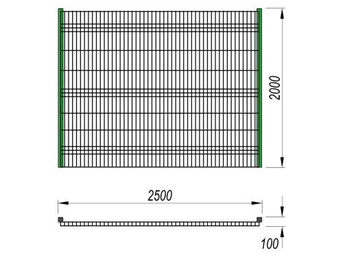 5102 Ограждение (2 500 х 2 000), фото №2