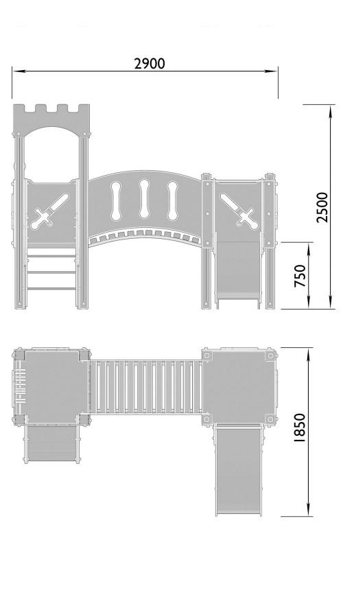 2030-2 Комплекс детский Крепость, фото №2