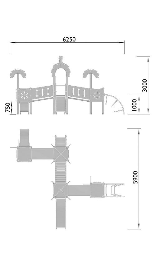 2110-5 Комплекс детский Джунгли, фото №2