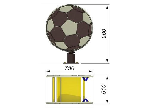 1211 Качалка на пружине Мяч, фото №2