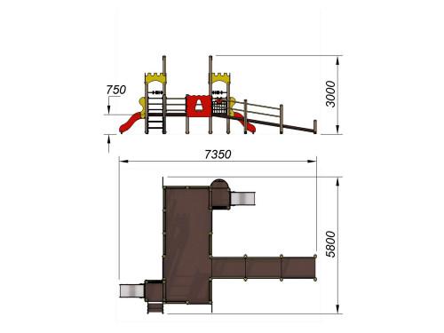 2202 Детский игровой комплекс для детей с ограниченными возможностями Крепость, фото №2
