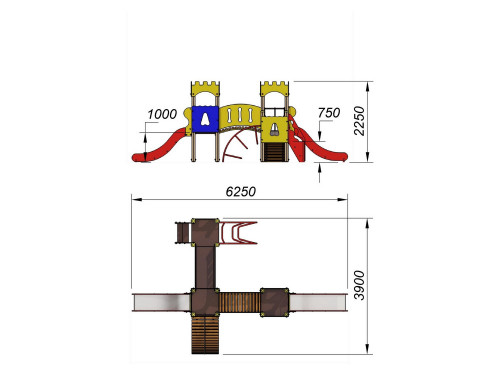 2076 Комплекс детский Крепость, фото №2