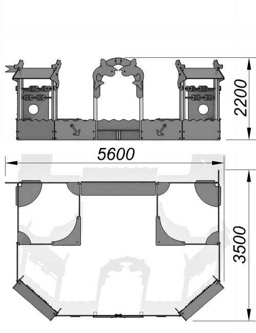1522 Песочный дворик Тип 3, фото №2