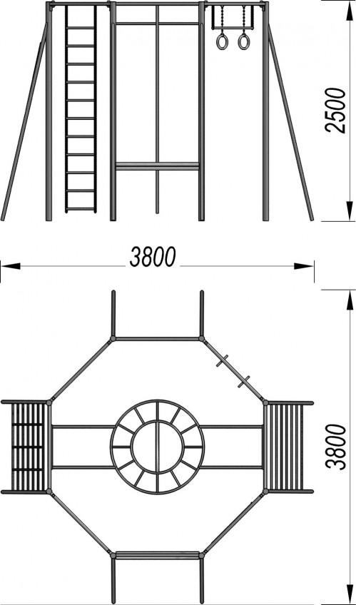 3008 Гимнастический комплекс 8-гр, фото №2