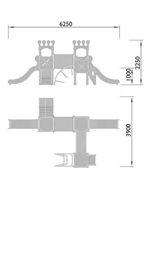 2060-8 Комплекс детский Корона, фото №2
