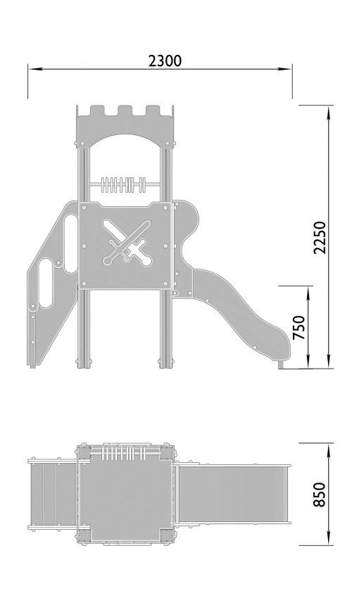 2000-2 Комплекс детский Крепость, фото №2