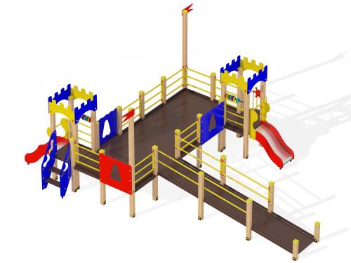 Детский игровой комплекс для детей с ограниченными возможностями Крепость