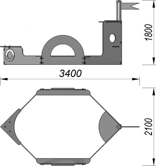 1508 Песочница Пароход, фото №2