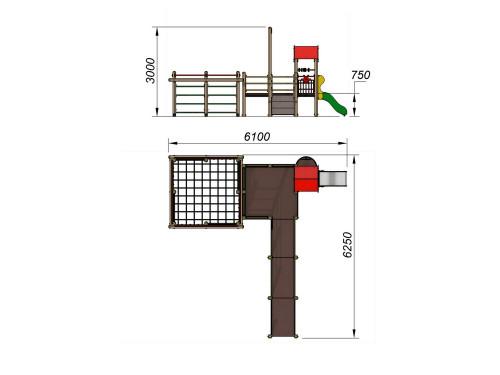 2201 Детский игровой комплекс для детей с ограниченными возможностями, фото №2
