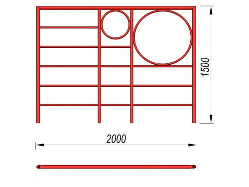 3502 Шведская стенка с кольцами, фото №2