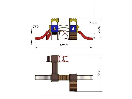 2071 Комплекс детский Крепость, фото №2
