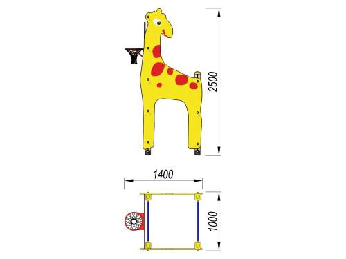 4704 Жираф с баскетбольным щитом, фото №2