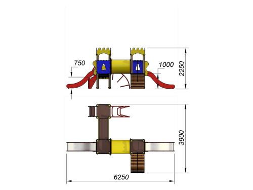 2081 Комплекс детский Крепость, фото №2